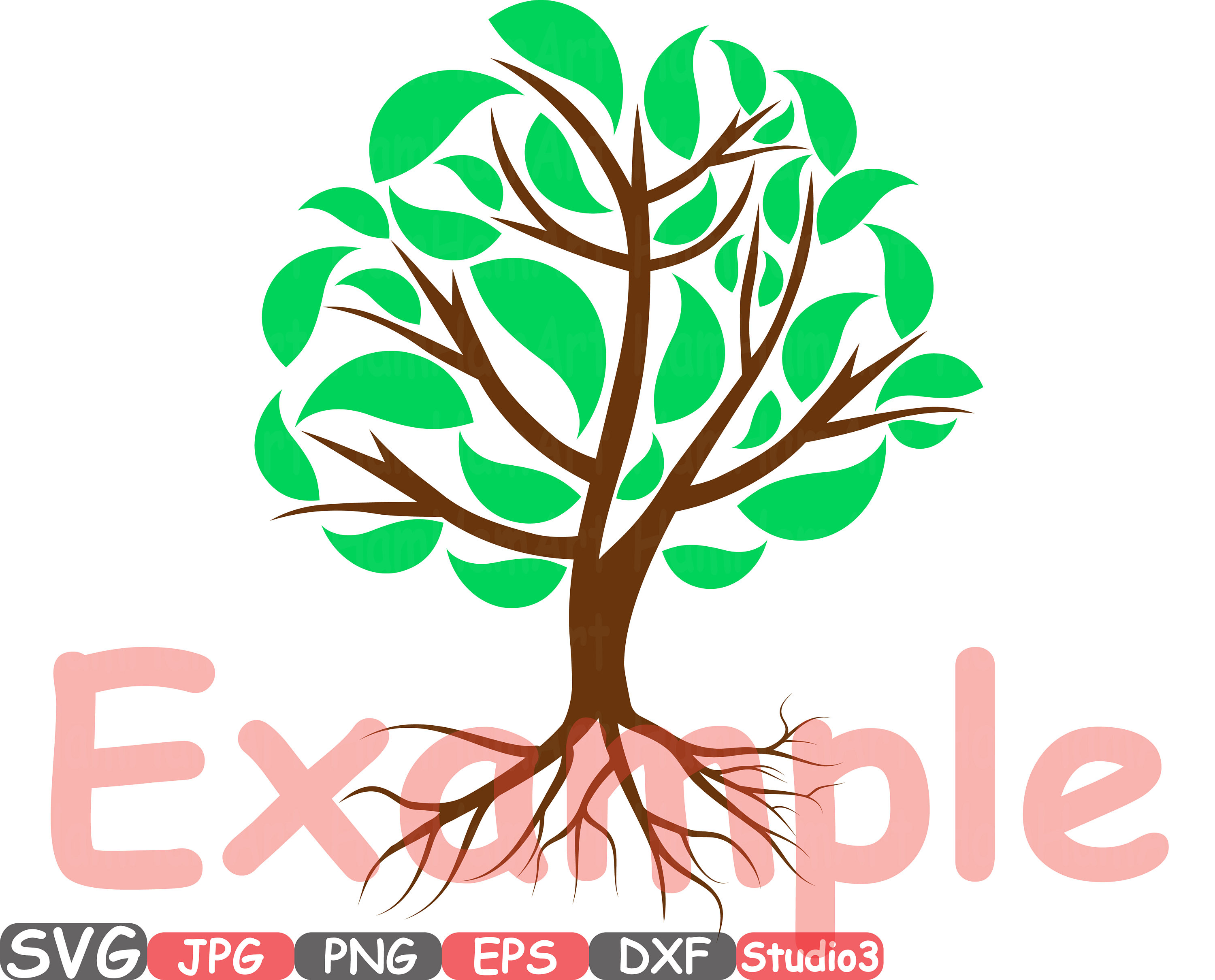 3000x2420 Family Tree Silhouette Studio Cricut Monogram Cutting Files Svg