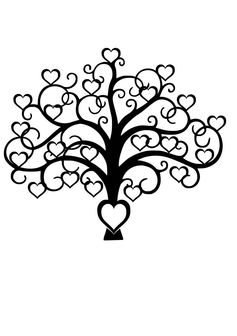 794x1123 Family Tree Heart Svg File Quote Cut File Silhouette File
