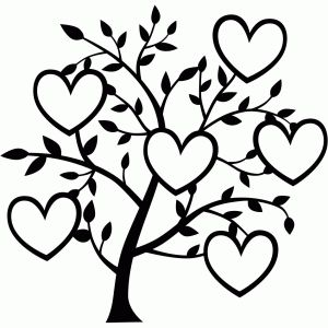 300x300 6 Heart Family Tree Silhouette Design, Family Trees And Silhouettes