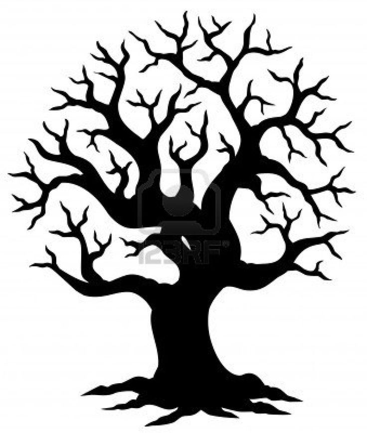 Family Tree Silhouette Vector
