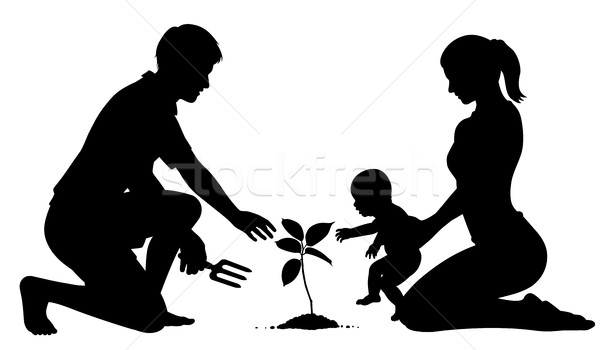 600x350 Family Tree Planting Vector Illustration Robert Adrian Hillman