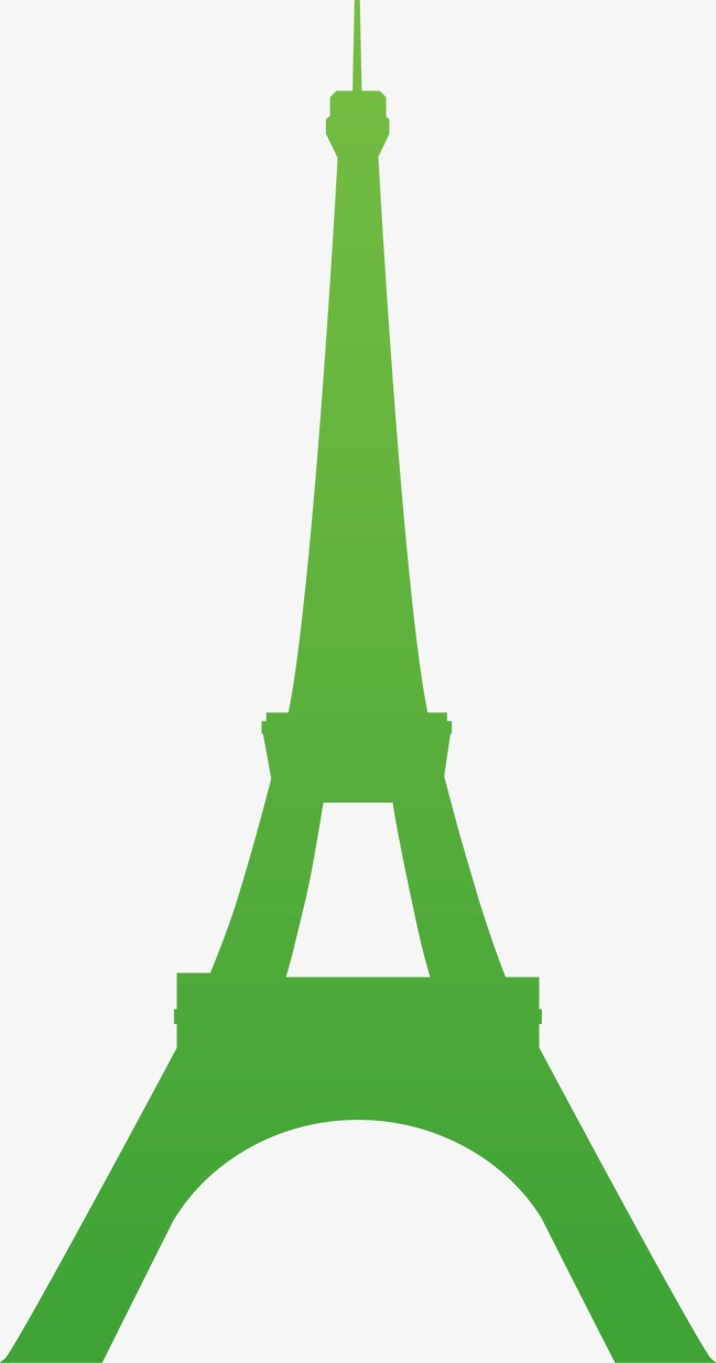650x1238 Eiffel Tower Silhouette, Green, Famous Buildings, Attractions Png