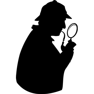 300x300 Famous Silhouette Art Consulting Detective With Pipe