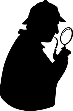 236x358 Sherlock Holmes Silhouette Decal Removable Door Wall Sticker Home