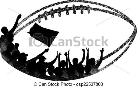 450x288 Grunge Football With Fans Inside. Illustration Is A Grunge