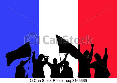 450x320 Silhouette From Some Sport Fans In Front Of The Flag From Stock