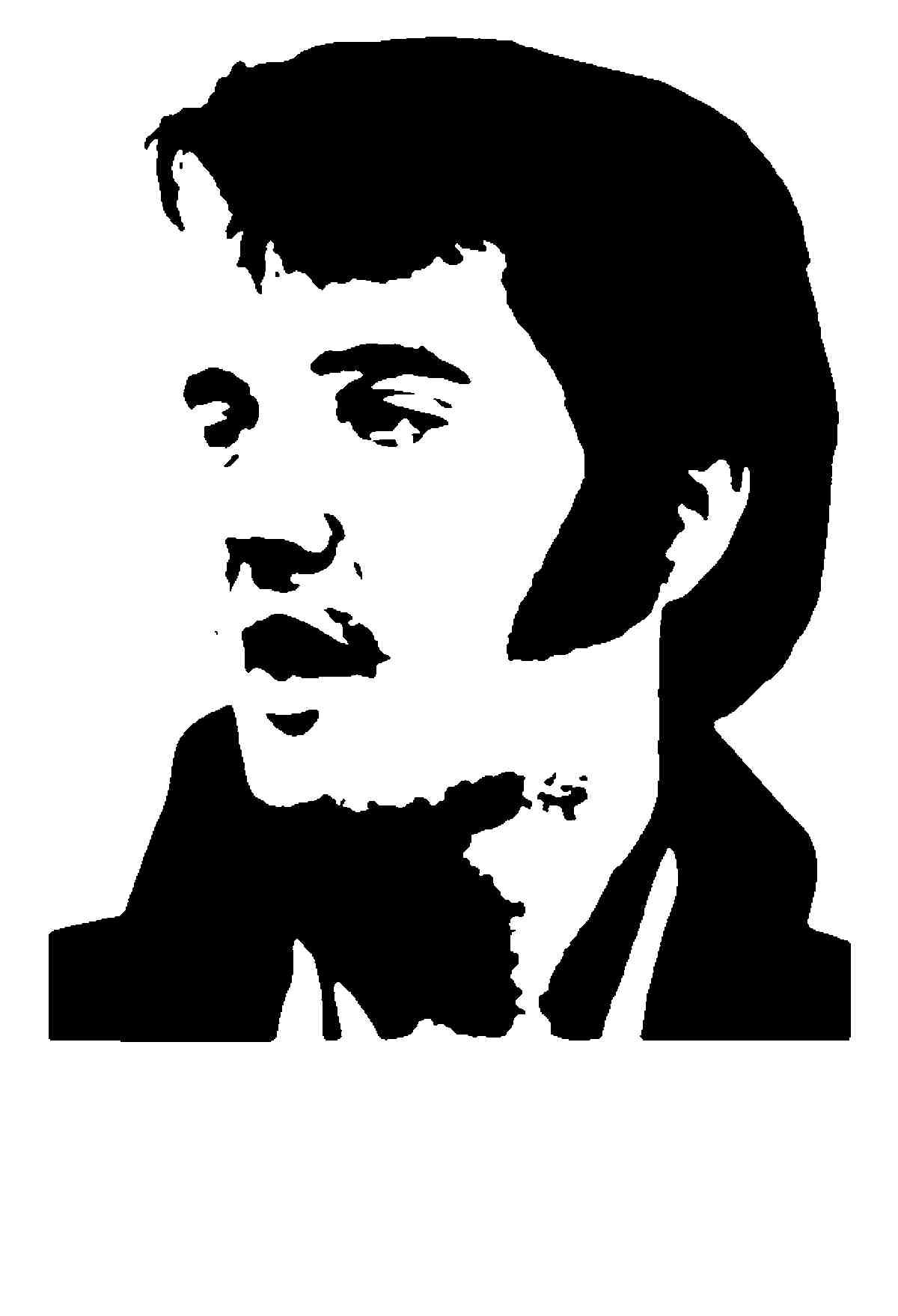 1200x1758 Fan Art Of Silhouette For Fans Of Elvis Presley. Clipart