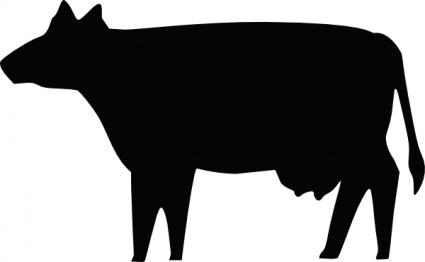 425x262 Silhouette Farm Cow Milk Beef Animal Clip Arts, Free Clip Art