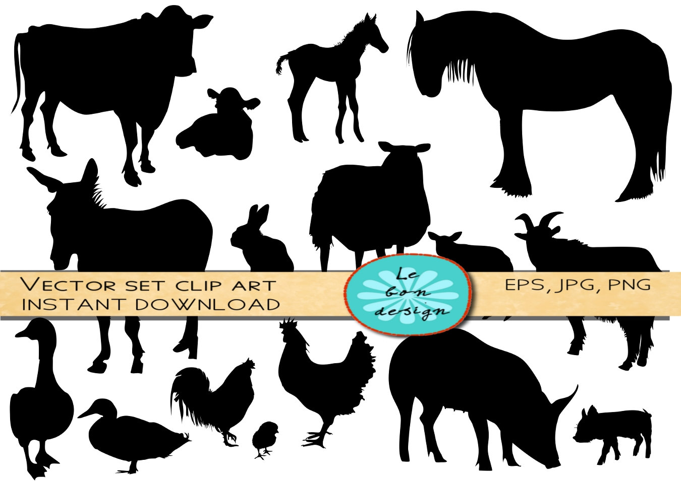 farm animal silhouette clip art free at getdrawings com free for rh getdrawings com farm clipart images farm scene clipart free
