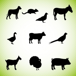 268x268 Farm Animal Silhouette Vectors Stock For Free Download About (11