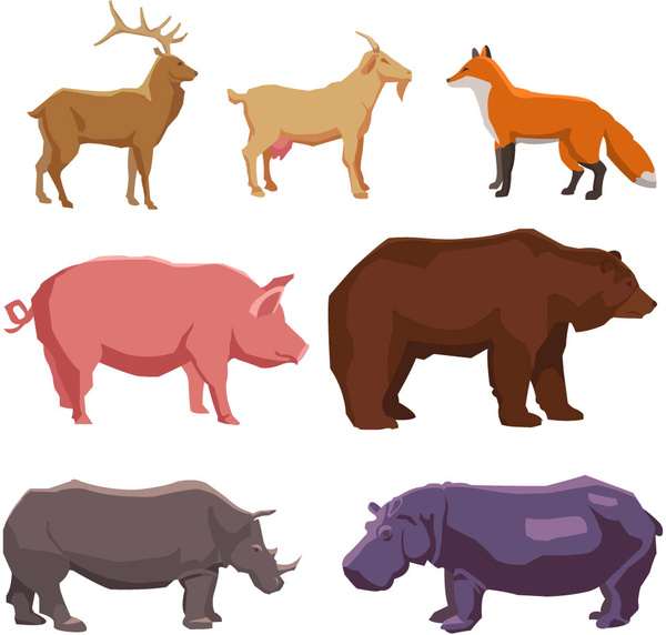 600x572 Farm Animals Silhouette Free Vector Download (12,074 Free Vector