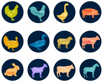 335x268 Various Farm Animals Vector Design Vectors Stock For Free Download