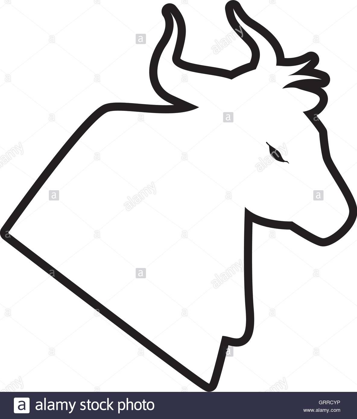 1184x1390 Bull Horn Animal Silhouette Farm Icon. Vector Graphic Stock Vector