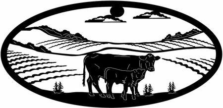 450x218 Farm Metal Art Ranch Signs, Gates, And Custom Metal Art By Big