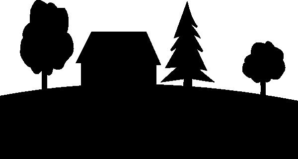 600x322 Farm Silhouette Clip Art