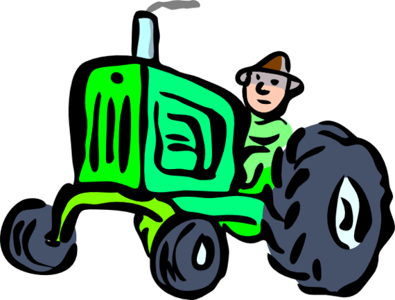 570x433 Free Tractor Clipart Image