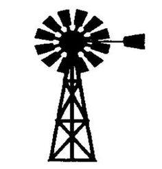 236x246 Windmill Farm Clipart