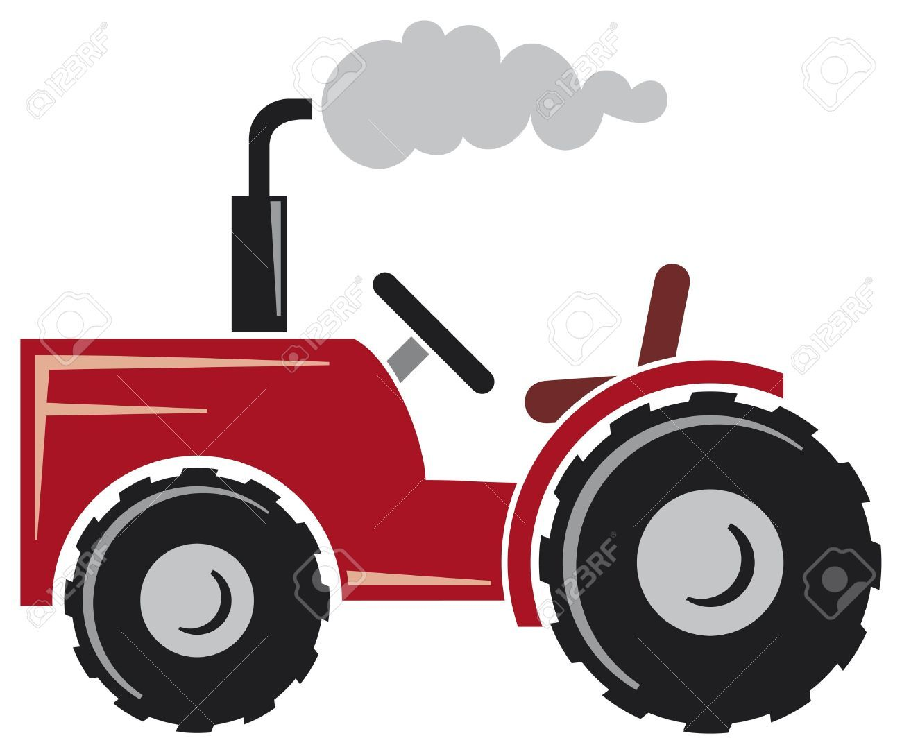 1300x1087 Tractor Cartoon Stock Vector Illustration And Royalty Free Tractor