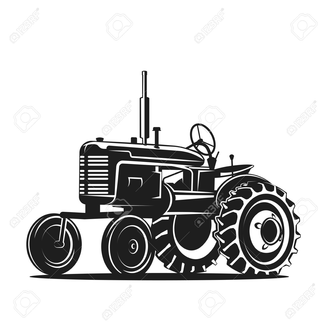 1300x1300 Tractor Silhouette Coloring Page 2019