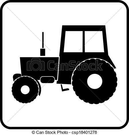 450x470 Tractor Silhouette Icon Vector Illustration Vectors Illustration