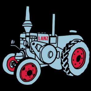 295x295 Lanz Bulldog Tractor Silhouette