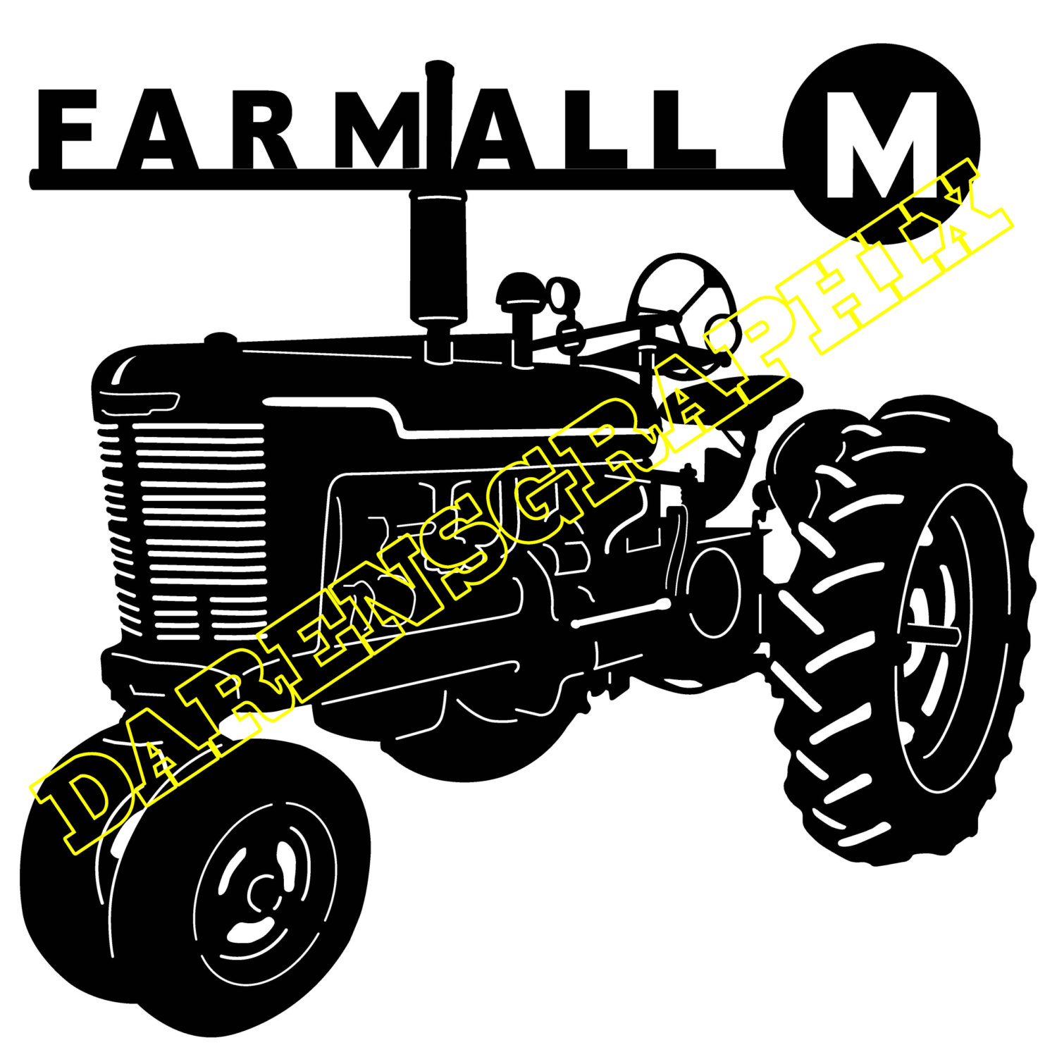 1500x1500 Dxf File Of A Farmall M Tractor For Use With A Cnc Machine