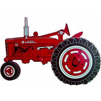 350x350 Farmall Model H Tractor Silhouette Coat Rack
