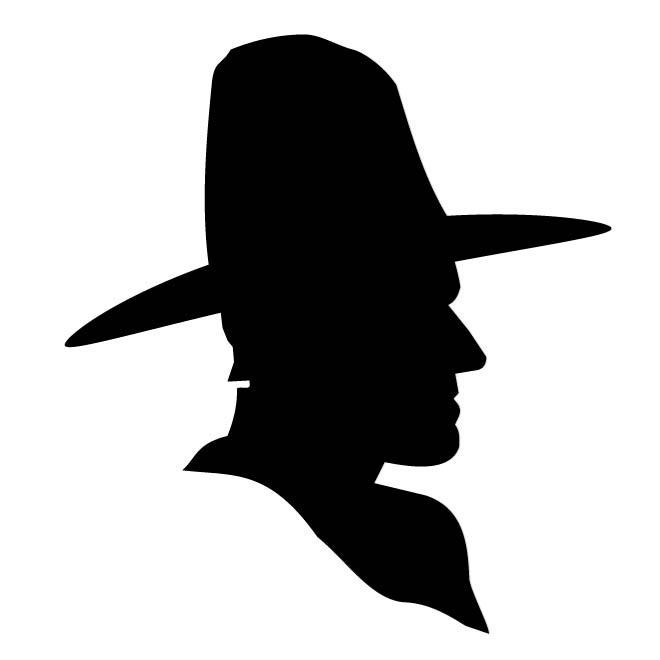 660x660 Man With Big Hat Silhouette