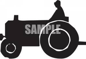 300x206 Art Image Silhouette Of A Farmer On A Tractor