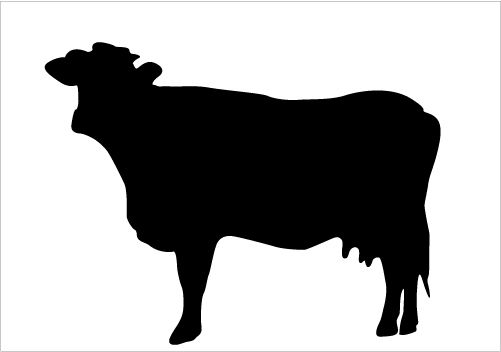 501x352 Best Cow Silhouettes For Farm Animal Design Silhouette Graphics