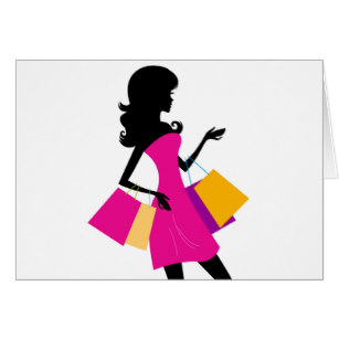 307x307 Fashion Girls Silhouette Cards