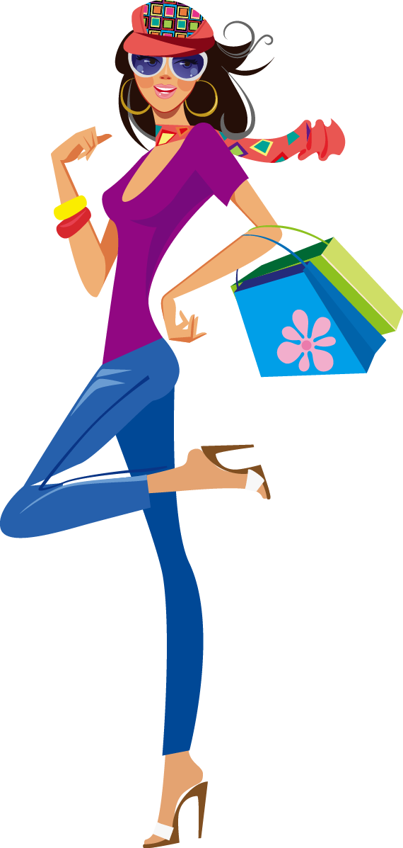 570x1197 Shopping Clothing Illustration