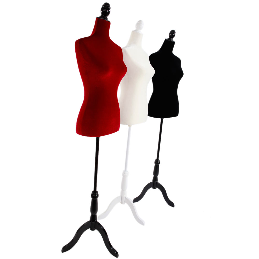 1000x1000 New Female Mannequin Torso Clothing Display W Tripod Stand Multi