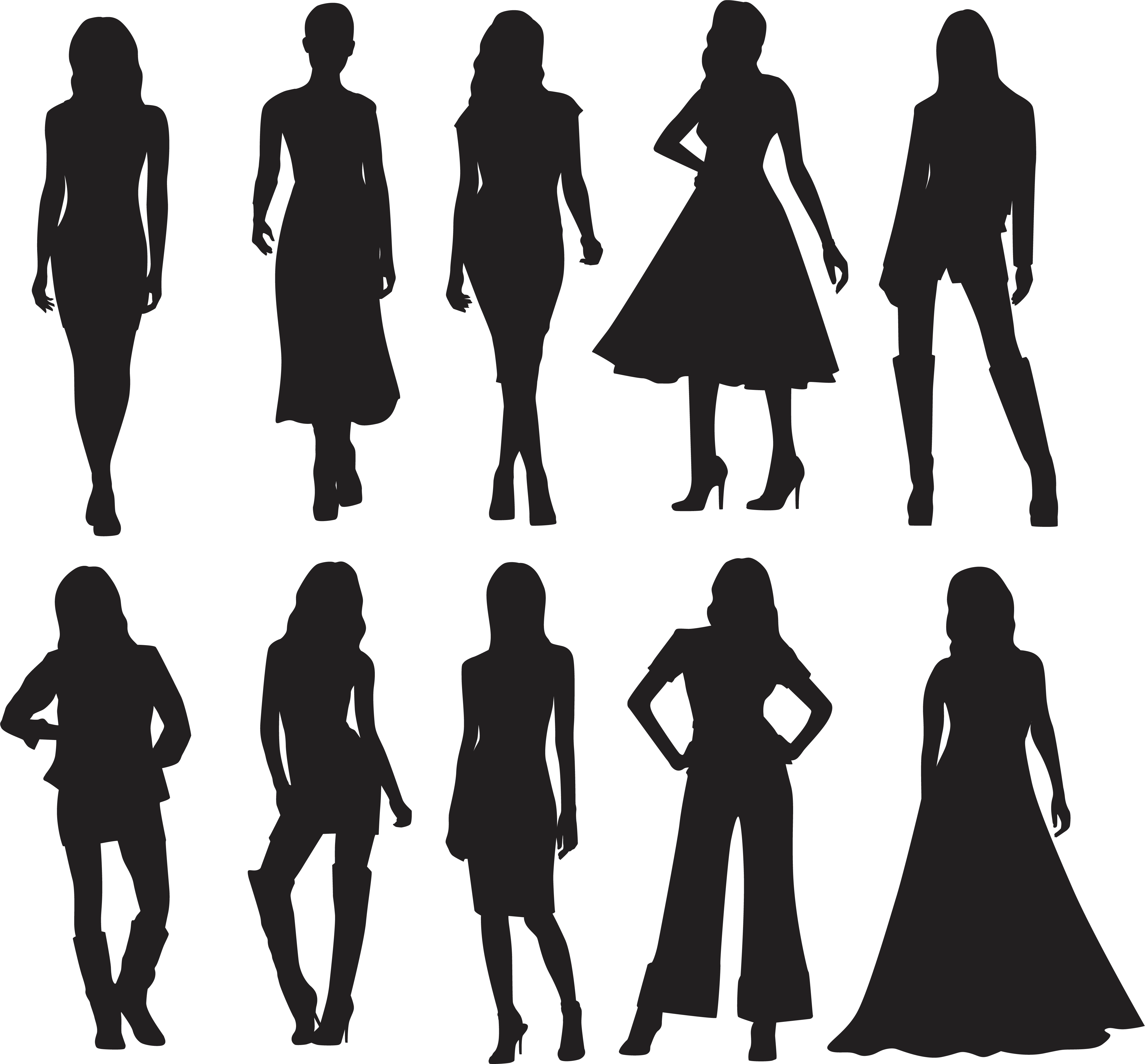 Fashion Model Silhouette At GetDrawings