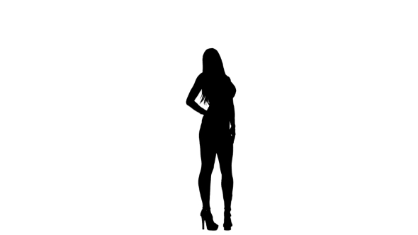 590x332 Silhouette Of Fashion Model Posing For A Camera For A Magazine