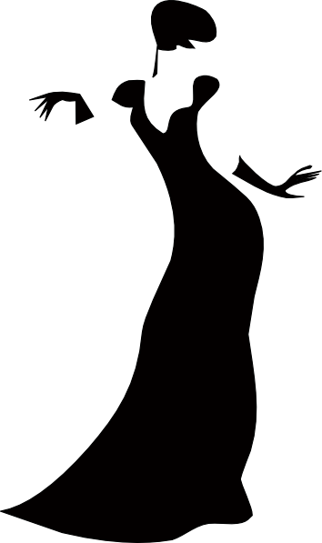 354x597 Romanov Dark Lady Clip Art
