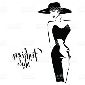 300x300 Silhouette Of Fashion Women Vector Clipart Lazttweet