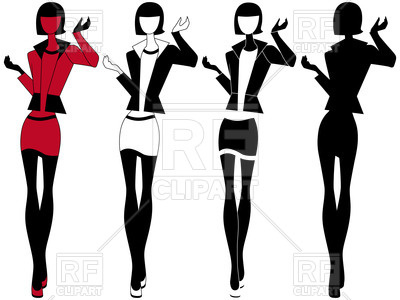 400x300 Stylized Fashion Model Royalty Free Vector Clip Art Image