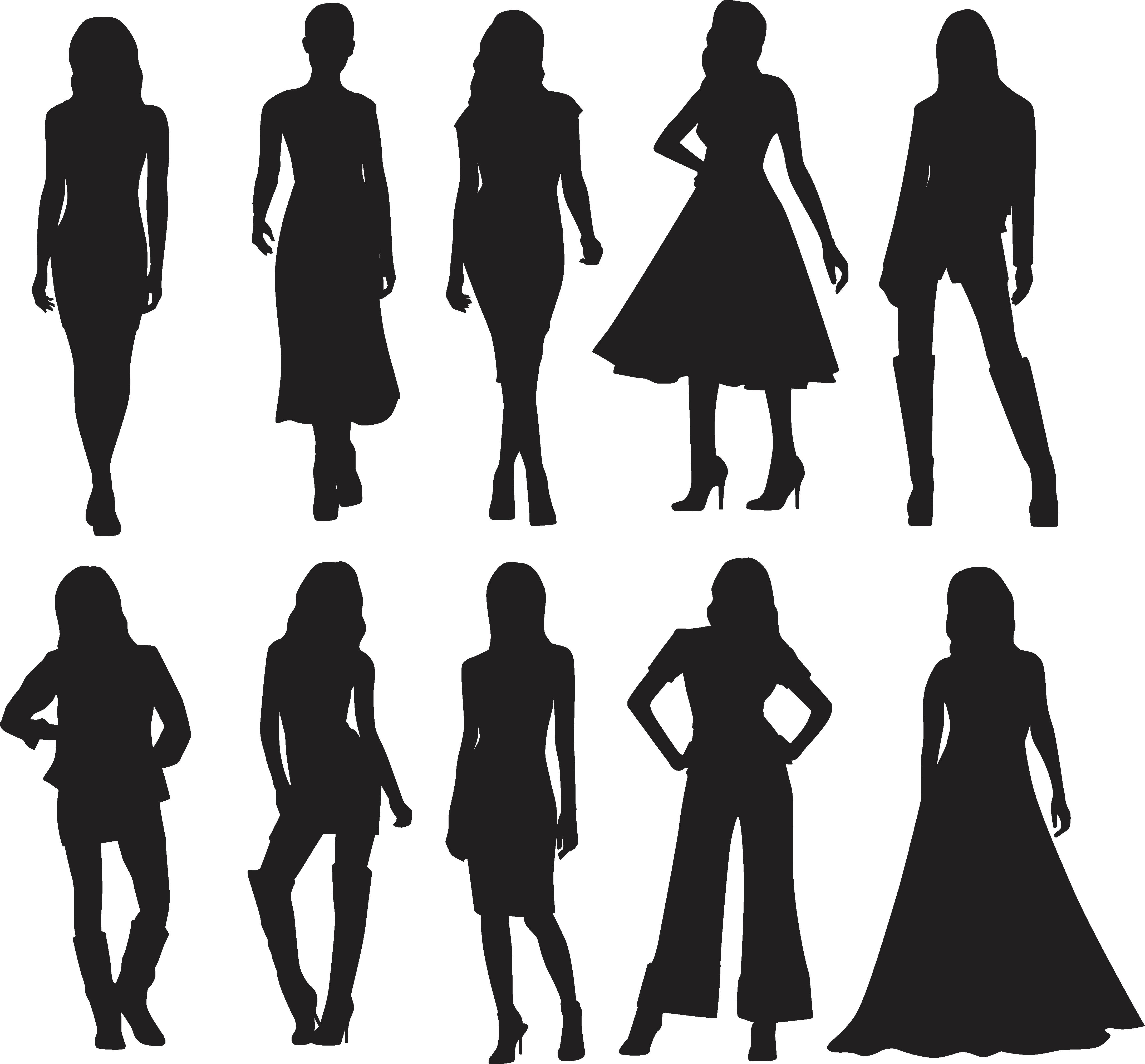 4347x4039 Silhouette Model Fashion