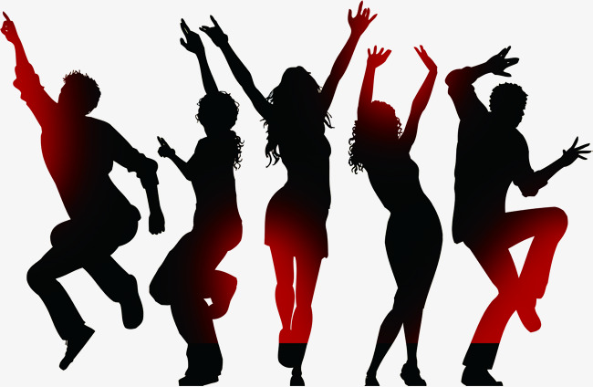 650x424 Fashion Personality Gradient Character Movement Dance Silhouette