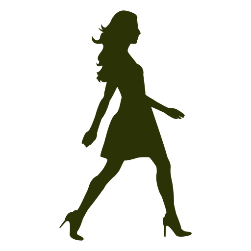 512x512 Girl Fashion Walking Silhouette 6