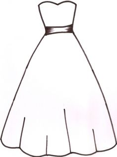 236x317 Wedding Dress Pattern. Use The Printable Outline For Crafts