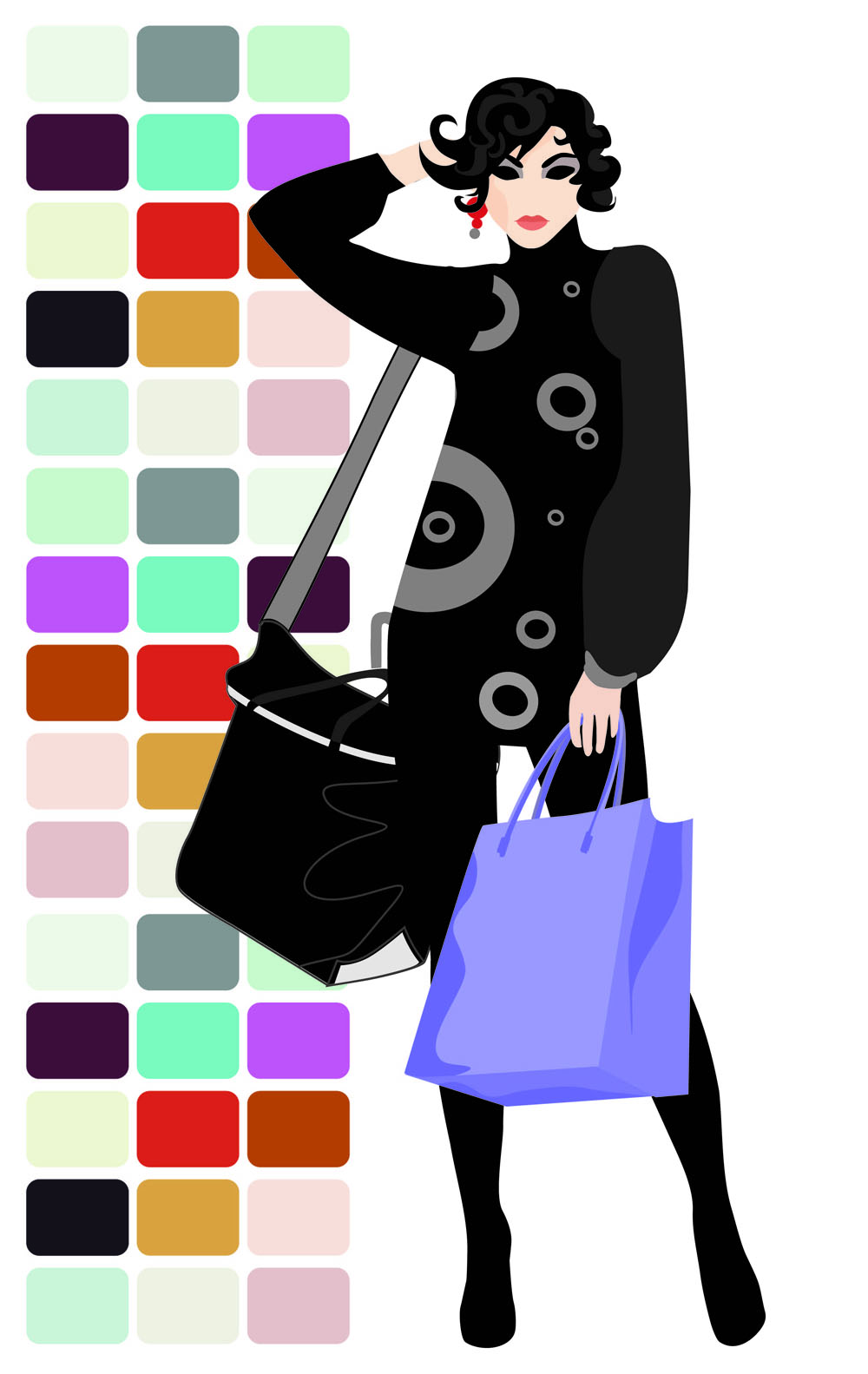 1000x1583 Fashion Shopping Beauty Silhouette 05 Vector Free Vector 4vector