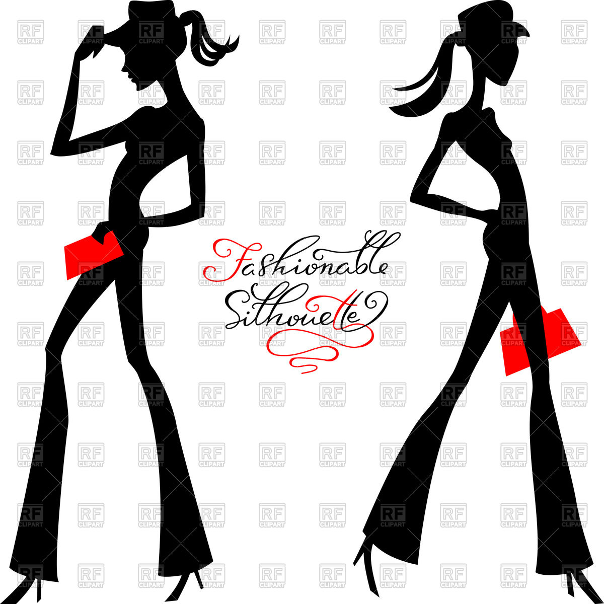 1200x1200 Fashionable Silhouette Of Girls