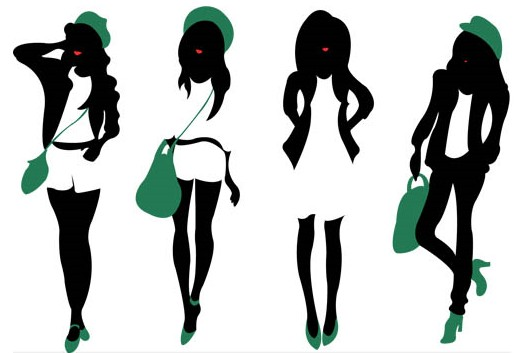 517x353 Free Girl Silhouette Vector, Hanslodge Clip Art Collection