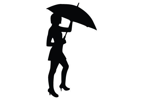 500x350 This Is A Perfect Silhouette To Portray Woman Vector Illustrations