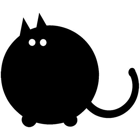 Fat Cat Silhouette