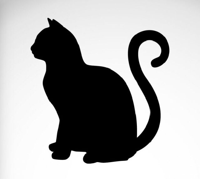 640x572 Pin By Lisa Peduzzi On Cats Cat, Silhouettes And Tattoo