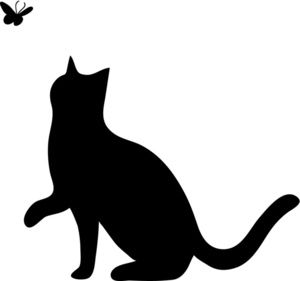 300x281 Cat Silhouette Clipart Black And White