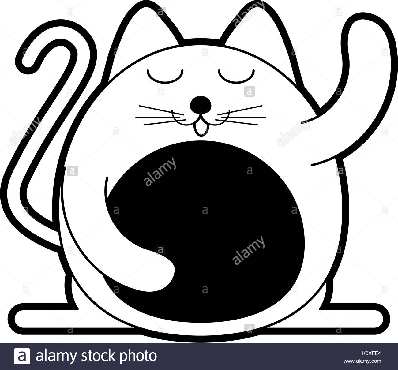 1300x1209 Fat Cat Black And White Stock Photos Amp Images